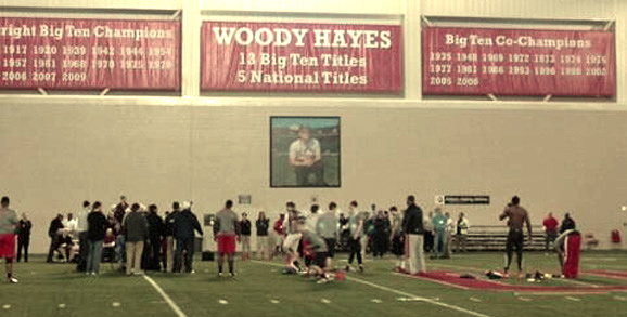 Ohio State's Pro Day at the Woody Hayes Athletic Center