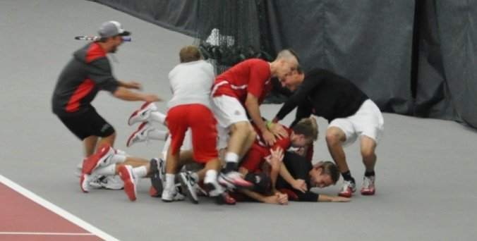 Men's tennis celebrates another Big Ten Tournament championship