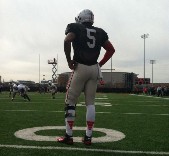 Braxton Miller takes in Ohio State's Student Appreciation Day