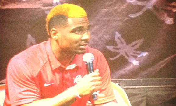 At today's Ohio State football spring kickoff luncheon, Braxton Miller