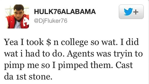 DJ Fluker got a little too candid on Twitter last April.