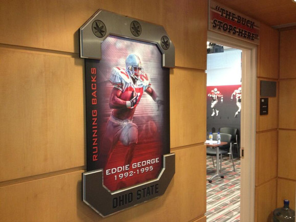 Eddie George now welcomes all Ohio State running backs to position meetings.