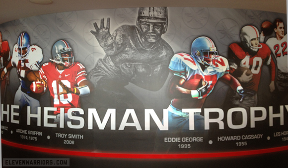 Ohio State's Heisman Trophy winners are honored at the Woody Hayes Athletic Center.