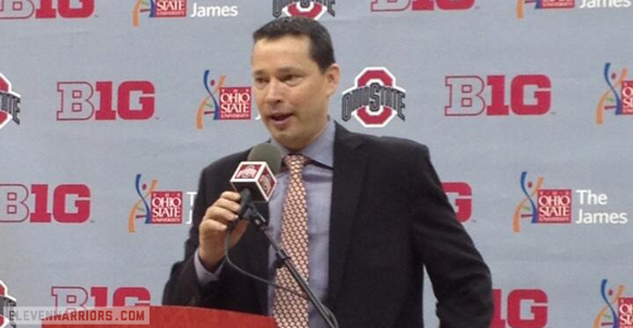 Kevin McGuff was introduced to Ohio State media Wednesday
