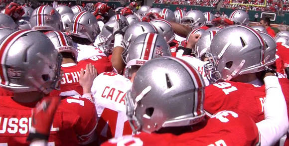 Team Scarlet topped Team Gray in the 2013 Ohio State Spring Game.