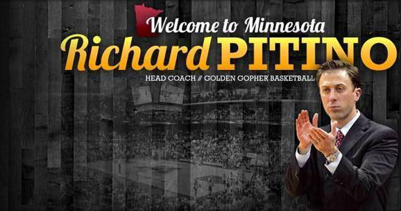 Richard Pitino takes over for Tubby Smith as coach of Minnesota's men's basketball team.