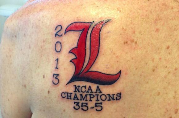 Rick Pitino's tattoo is NSFL