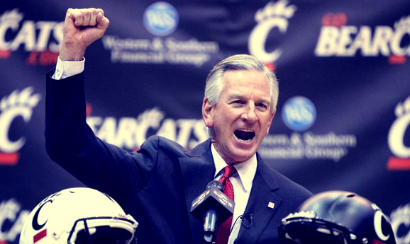 Cincinnati's Tommy Tuberville welcomes Ohio State into his backyard for spring football.