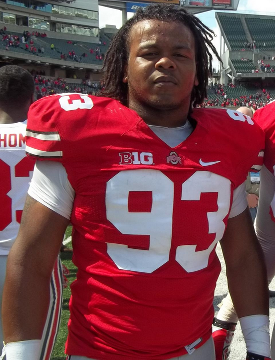 Tracy Sprinkle, during the 2013 spring game