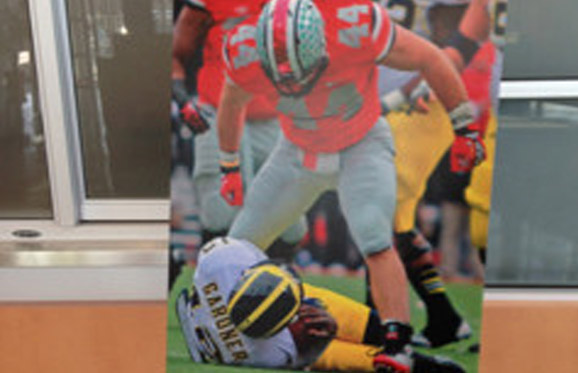 Zach Boren artwork now adorns the Woody Hayes Athletic Center