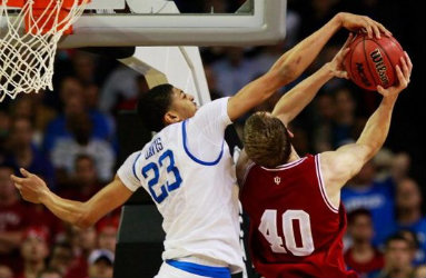 Cody Zeller getting stuffed. A preview of what will happen in the NBA?