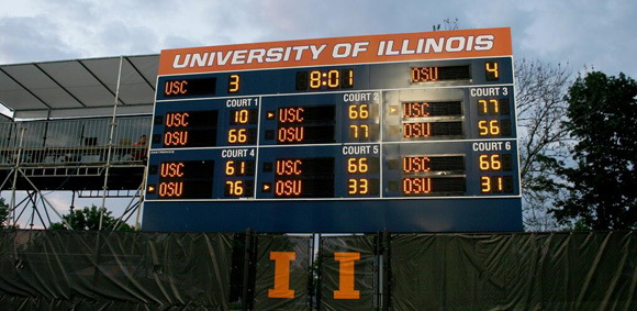 Ohio State won a thriller on the University of Illinois' Khan Tennis courts
