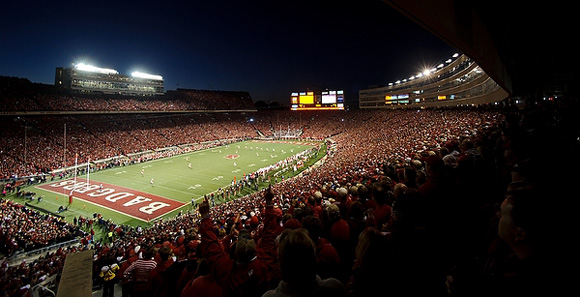 Camp Randall gets tougher when the sun goes down.