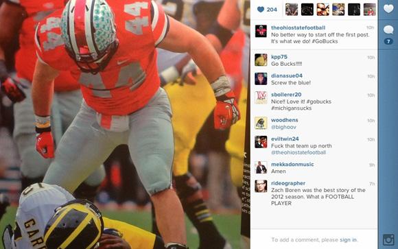 Follow the Buckeyes on Instagram