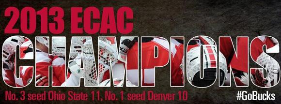Men's lacrosse captures the 2013 ECAC tournament championship