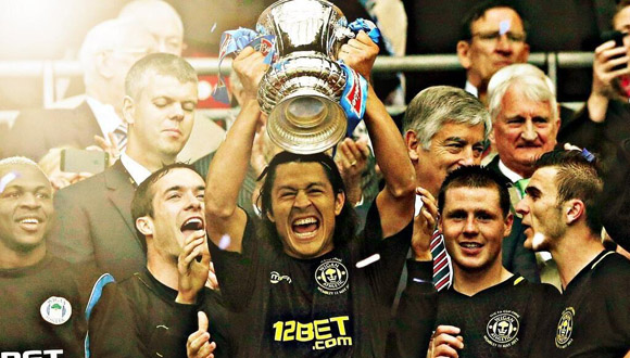Roger Espinoza and his Wigan squad topped Manchester City to win the 2013 FA Cup.