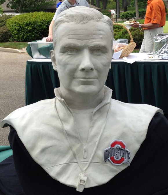 This Urban Meyer bust would look great in any front yard.