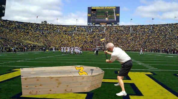 Kerry Coombs preps the Wolverines for burial