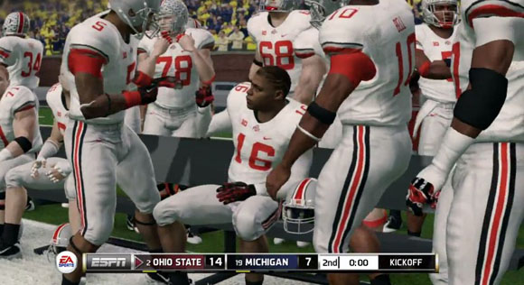 Ohio State player likenesses in EA NCAA Football 14