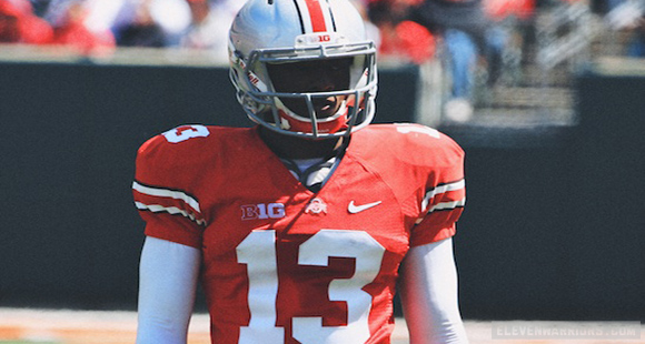 Eli Apple rocks No. 13 for the Buckeyes