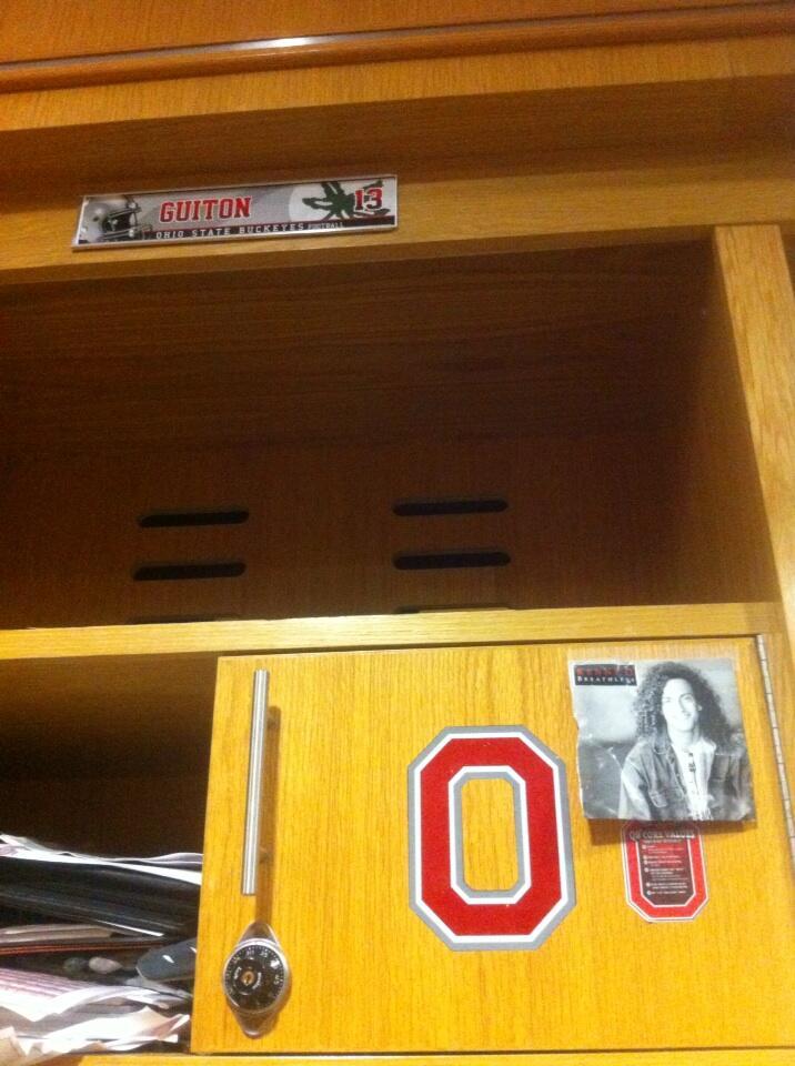 Kenny Guiton's locker.