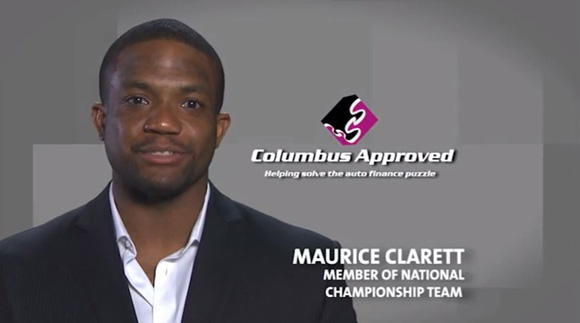 Maurice Clarett stars in a new commercial for a local auto financing outfit