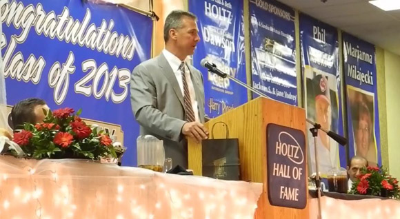 Urban Meyer spoke at the Lou Holtz Upper Ohio Vallye Hall of Fame