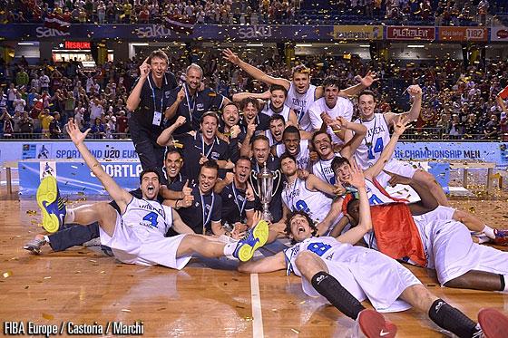 Italy celebrates its FIBA Euro U20 gold medal