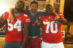 Vrabel fits right in with recruits.