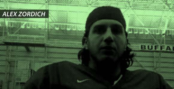 Buffalo quarterback Alex Zordich: Pure villain