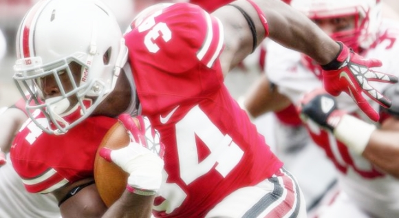 Carlos Hyde led the conference with 10.2 points per game as a junior