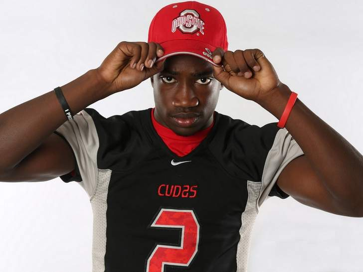 James Clark in a signing day photo shoot.