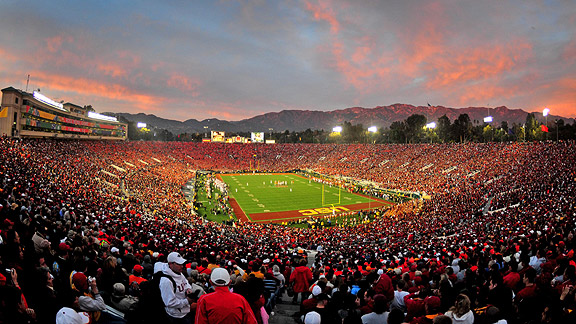 The Rose Bowl, site of the 2014 national championship, the final installment of the BCS.