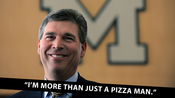 Michigan AD Dave Brandon, more than a pizza man.
