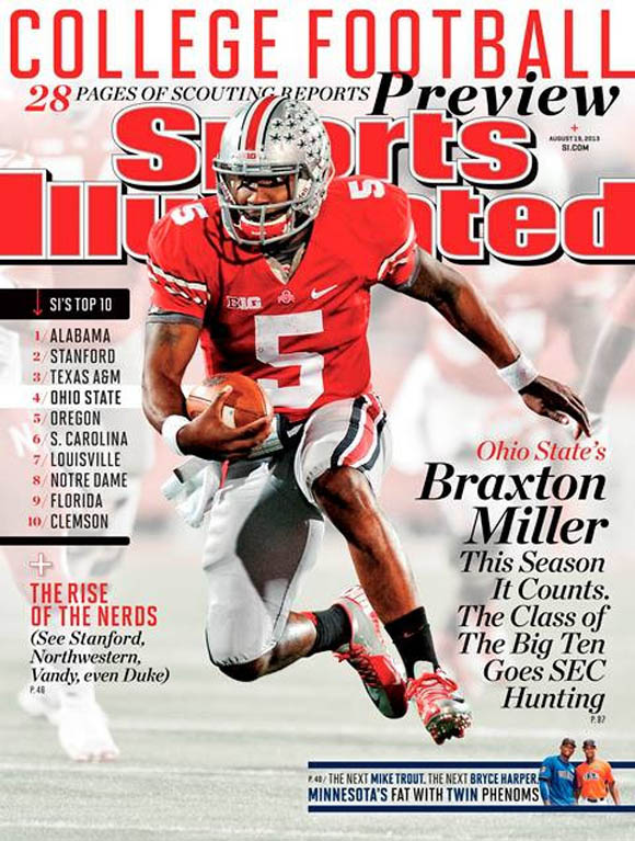 Braxton Miller on the cover of the new Sports Illustrated