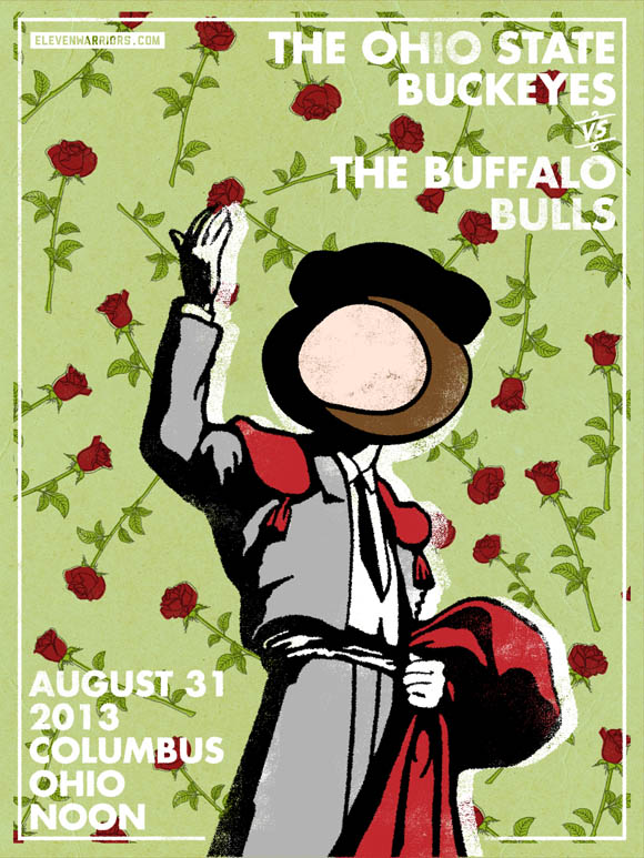 Ohio State vs Buffalo Game Poster from Eleven Warriors