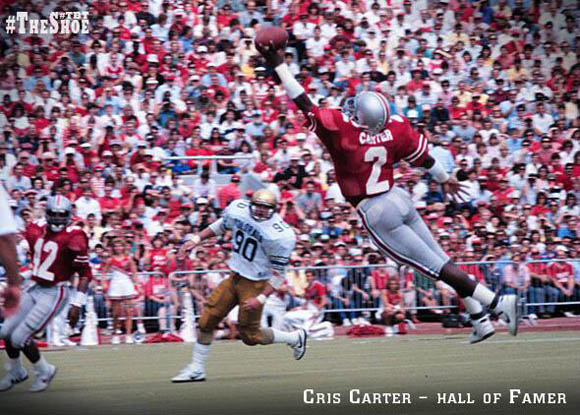 Cris Carter will be honored by Ohio State during the Buffalo game.