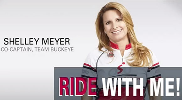 Shelley Meyer is passionate about her efforts to eradicate cancer with Pelotonia.