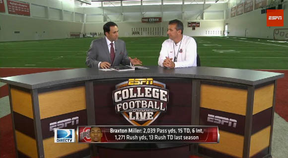 Urban Meyer appearing on College Football Live's bus tour today
