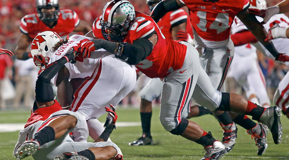Michael Bennett and his linemates mostly blew up Wisconsin's running game.