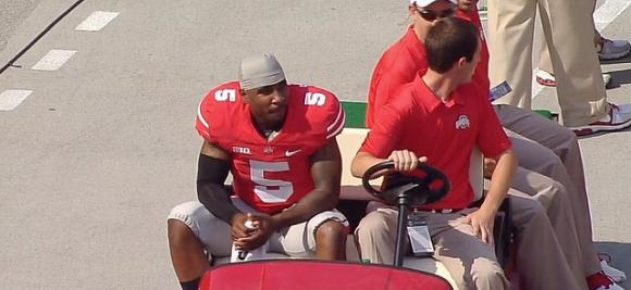 Braxton Miller is classified as day-to-day with a sprained knee ligament.