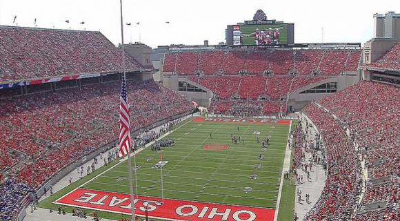 More than 105,000 fans took in OSU's 40-20 win.