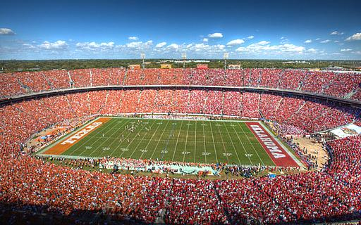 The Red River Rivalry in Dallas, Texas. The only neutral site game in college football worth a shit in the regular season.