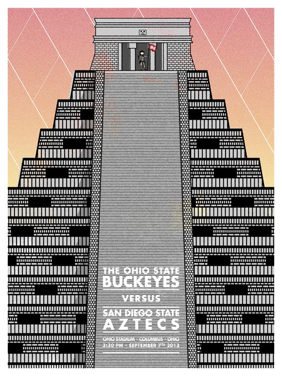 Ohio State vs San Diego State game poster