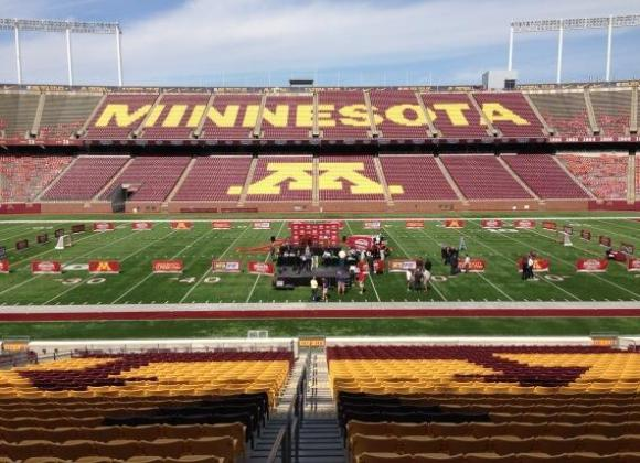 Hockey configuration at TCF Bank Stadium.