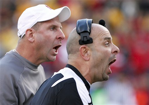 Nebraska head coach Bo Pelini (left) and his brother, defensive coordinator Carl Pelini. during the Huskers' 34-17 win over Missouri (AP photo) - See more at: http://thegazette.com/2010/10/31/hlas-ap-top-25-ballot-for-week-9-2/#sthash.bEMRmH8G.dpuf