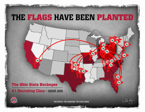 Buckeyes are planting the flags