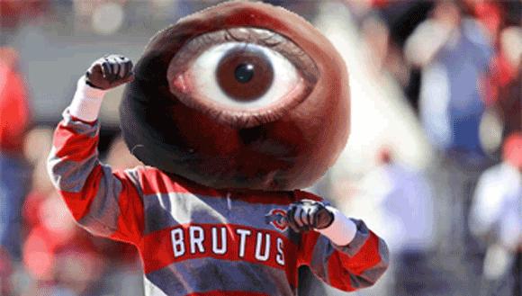 Ohio State's new live mascot.