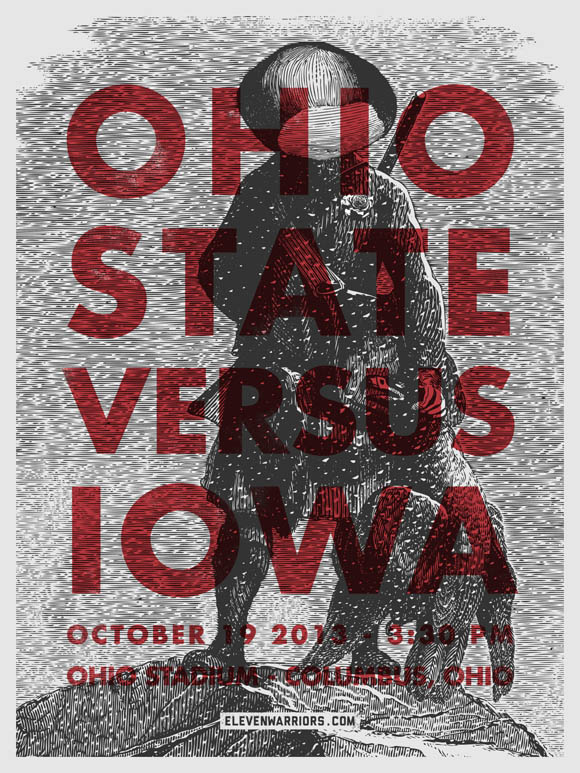 Ohio State vs Iowa game poster
