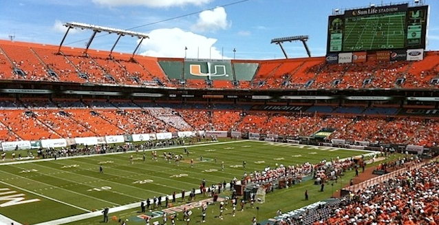 Making fun of Miami home game attendance issues is a low-hanging fruit, but still delicious.